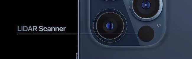 Scanner Lidar nos Iphones 12 Pro e 12 Pro MAX
