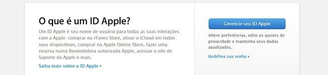 Criação de Apple ID
