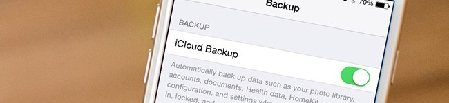 dica de Backup iPhone