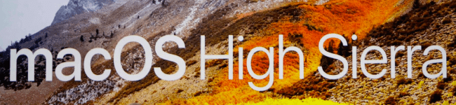 High Sierra macOS e iPad Pro