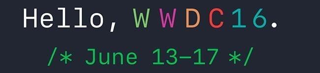 Evento Apple WWDC Junho/2016